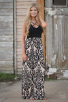 Closet Candy Boutique - black trendy criss cross damask maxi dress