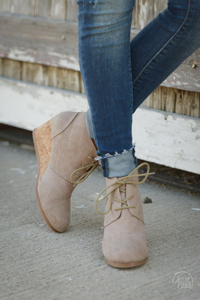 Closet Candy Boutique - cute canvas wedges, tan wedge heels