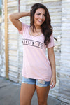 Killin It Graphic Tee - blush pink short sleeve tee with Killin It on front, front, Closet Candy Boutique