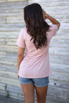 Killin It Graphic Tee - blush pink short sleeve tee with Killin It on front, back, Closet Candy Boutique