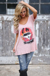Gypsy Soul Top - Blush graphic t-shirt women closet candy boutique