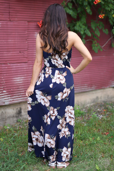 CCB Summertime Stroll Maxi Dress - Navy Floral closet candy boutique