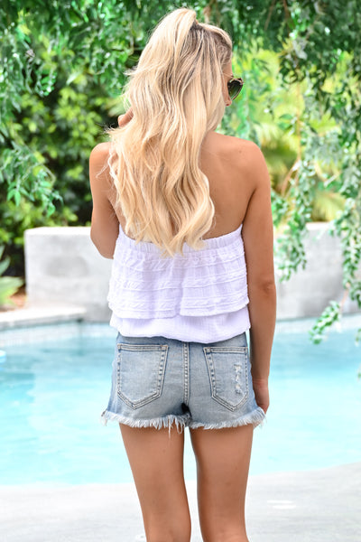Not Over Yet Top - White womens trendy strapless tube top closet candy  back
