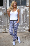 Inactive Duty Jogger Pants - camo lounge jogger pants, outfit view, Closet Candy Boutique