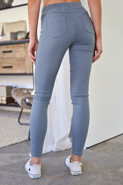 Dangerous Woman Distressed Pants - Grey womens trendy fall leggings closet candy back