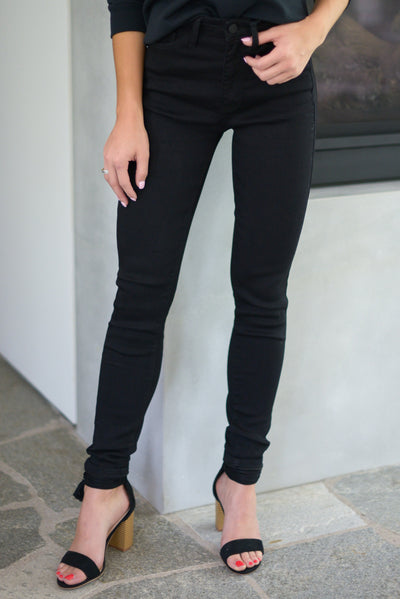 KAN CAN Midnight Skinny Jeans - Black trendy women's pants closet candy boutique 1