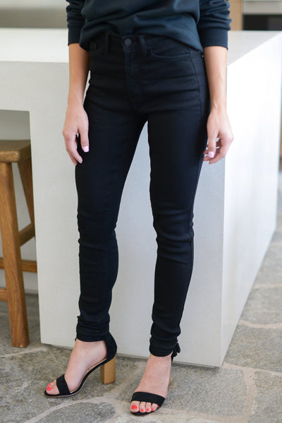 KAN CAN Midnight Skinny Jeans - Black trendy women's pants closet candy boutique 4