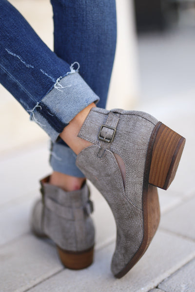 Priscilla Booties - Grey trendy women's booties closet candy boutique 2