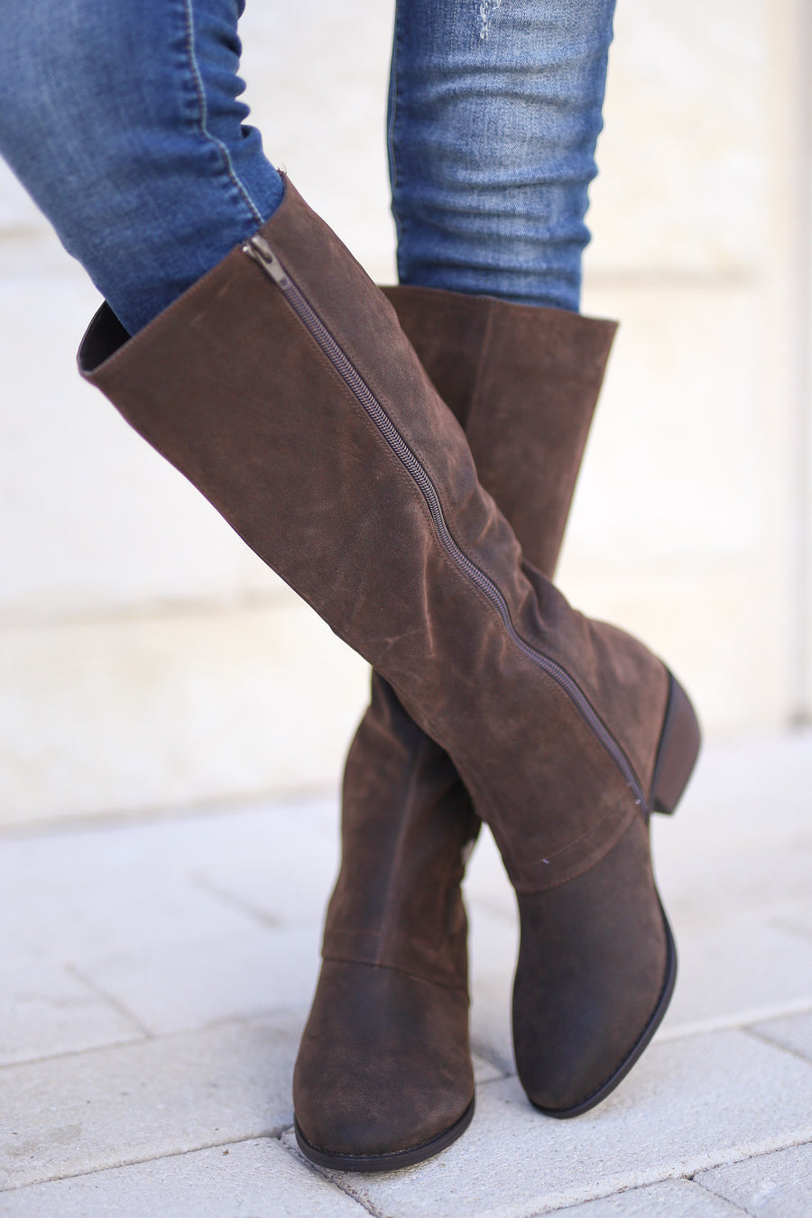 Walk On By Boots - Chocolate trendy, fall season, cute knee high riding boots closet candy boutique 1