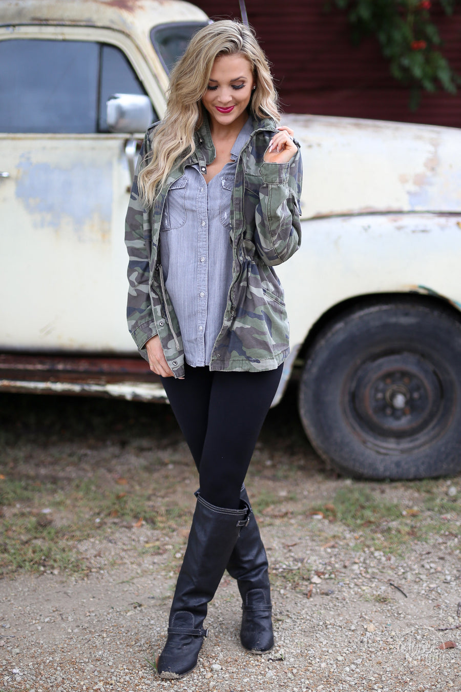 Can't Conceal Beauty Jacket - Camo