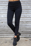 Need For Speed Moto Pants - cute trendy black moto pants, front, Closet Candy Boutique 1