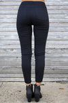 Need For Speed Moto Pants - cute trendy black moto pants, back, Closet Candy Boutique 3