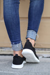 Goody Two Shoes Sneakers - Black and white cutout sneakers, back, Closet Candy Boutique