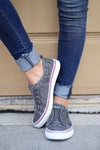 Wherever You Wander Sneakers - vintage charcoal casual sneakers, Closet Candy Boutique 1