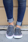 Wherever You Wander Sneakers - vintage charcoal casual sneakers, Closet Candy Boutique 4