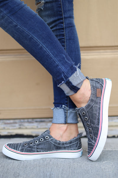 Wherever You Wander Sneakers - vintage charcoal casual sneakers, Closet Candy Boutique 2