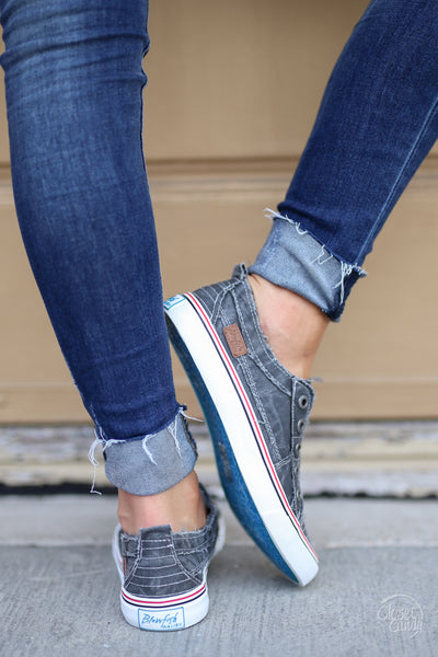 Wherever You Wander Sneakers - vintage charcoal casual sneakers, Closet Candy Boutique 3