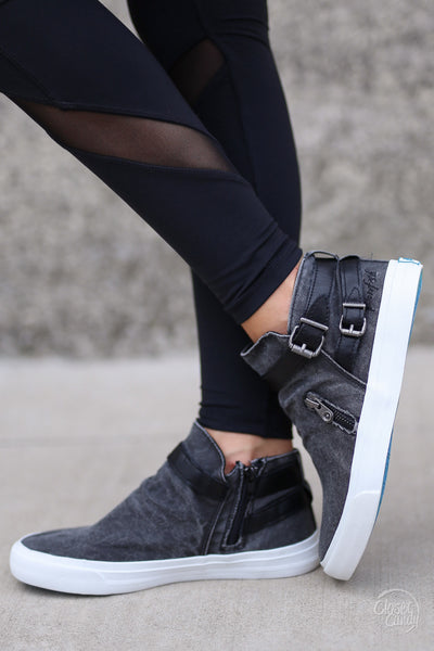 Get It Girl Sneakers - cute trendy black high top sneakers, Closet Candy Boutique 4