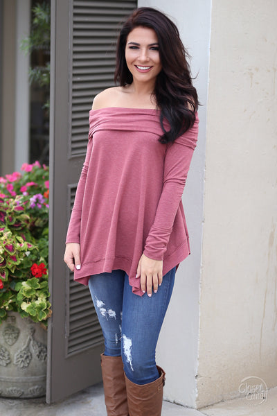 Take My Breath Away Top - wine off the shoulder top, trendy fall look, Closet Candy Boutique