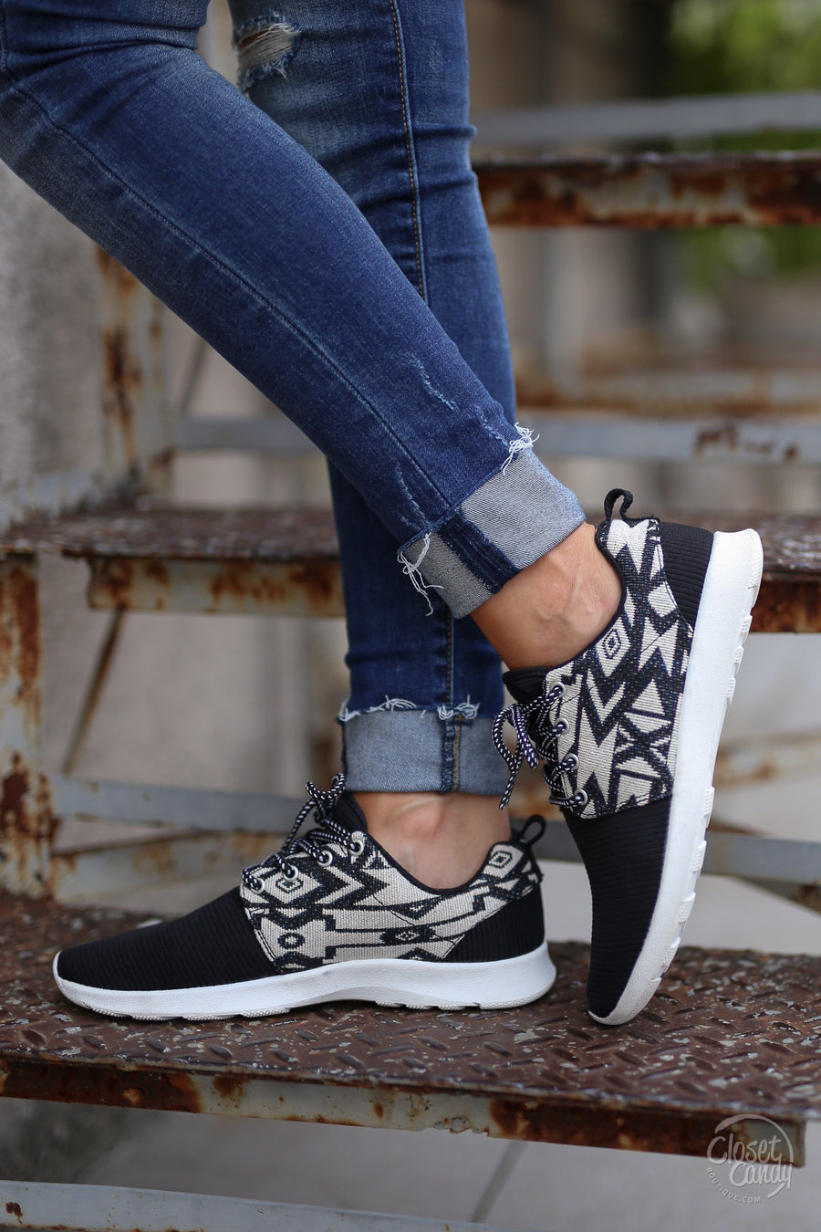 Live In The Moment Sneakers   Aztec Tribal Print Sneakers, Side, Closet  Candy Boutique