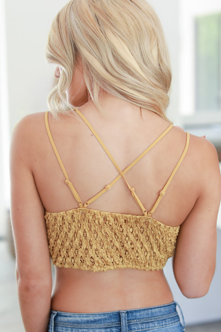 Day Dreamer Bralette - Mustard women's scallop lace beautiful bralette closet candy boutique 1