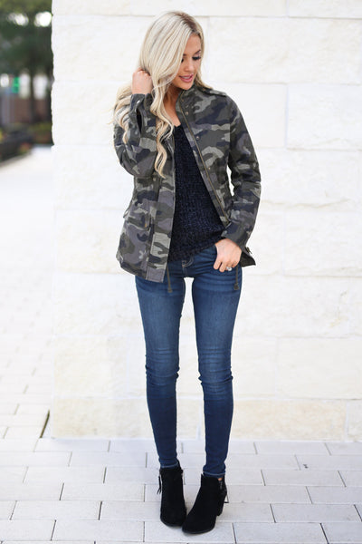 Rise & Grind Camo Cargo Jacket, fall staple, trendy outerwear, closet candy boutique 6