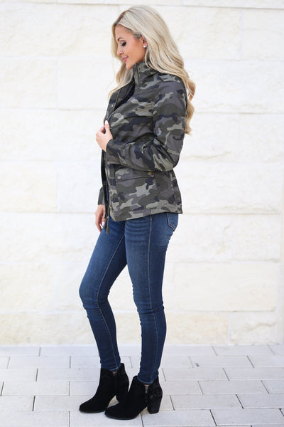 Rise & Grind Camo Cargo Jacket, fall staple, trendy outerwear, closet candy boutique 2