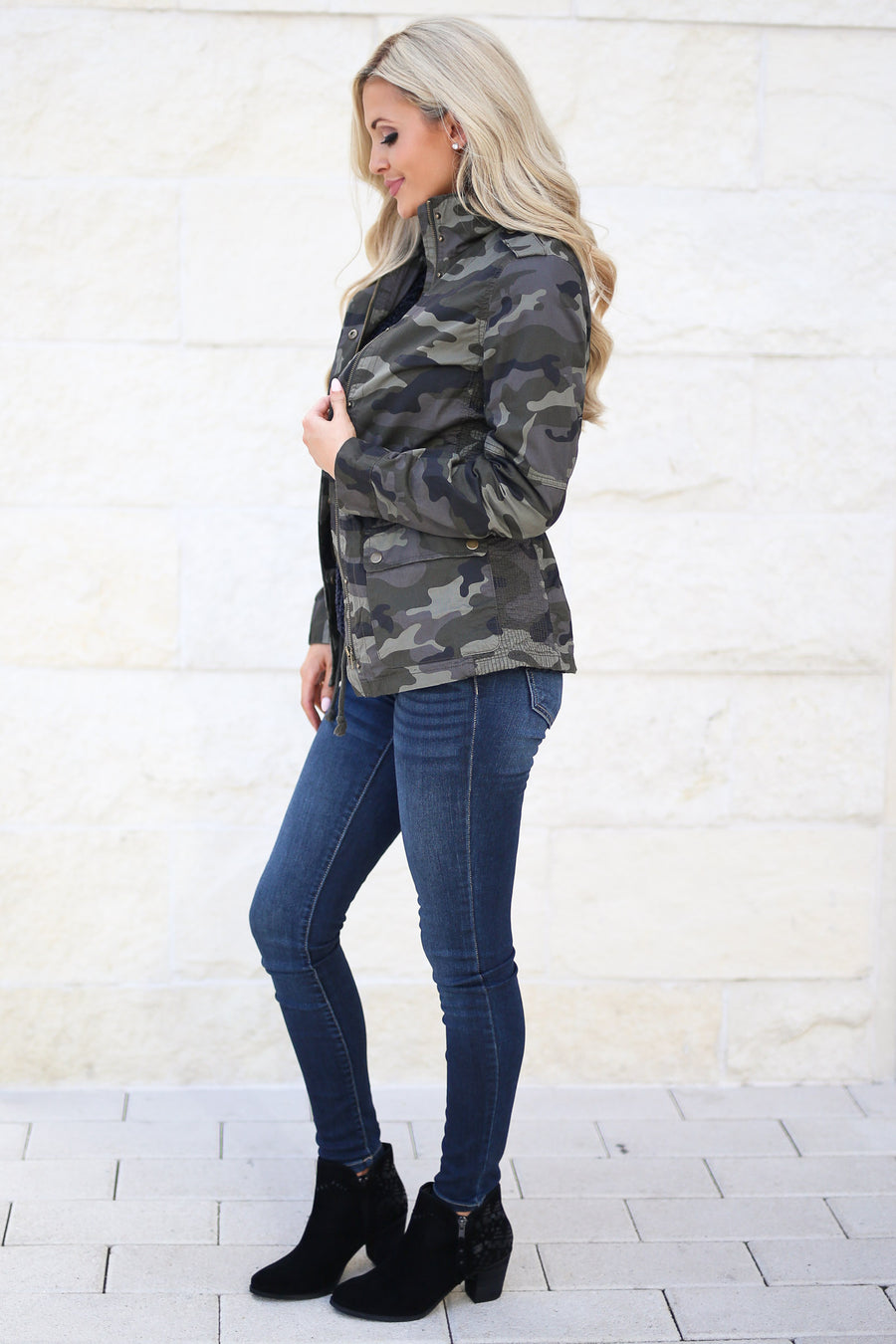 Rise & Grind Camo Cargo Jacket, fall staple, trendy outerwear, closet candy boutique 1