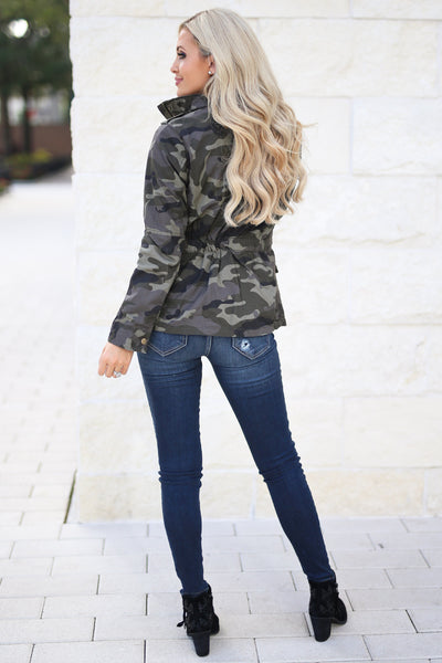 Rise & Grind Camo Cargo Jacket, fall staple, trendy outerwear, closet candy boutique 5