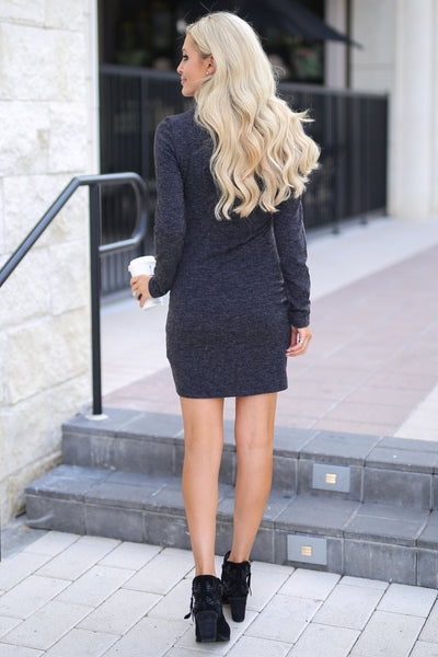 Hooked On You Long Sleeve Dress - Black women's trendy knit dress, perfect for date night, cute fall style closet candy boutique 5