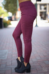 Need For Speed Moto Pants - wine slim fit moto jeggings, fall outfit, Closet Candy Boutique 1