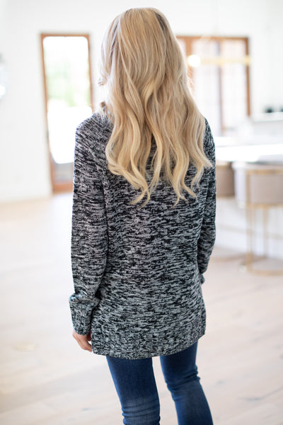 Happiest With You Sweater - Grey & Black women's two tone turtleneck sweater, closet candy boutique 4
