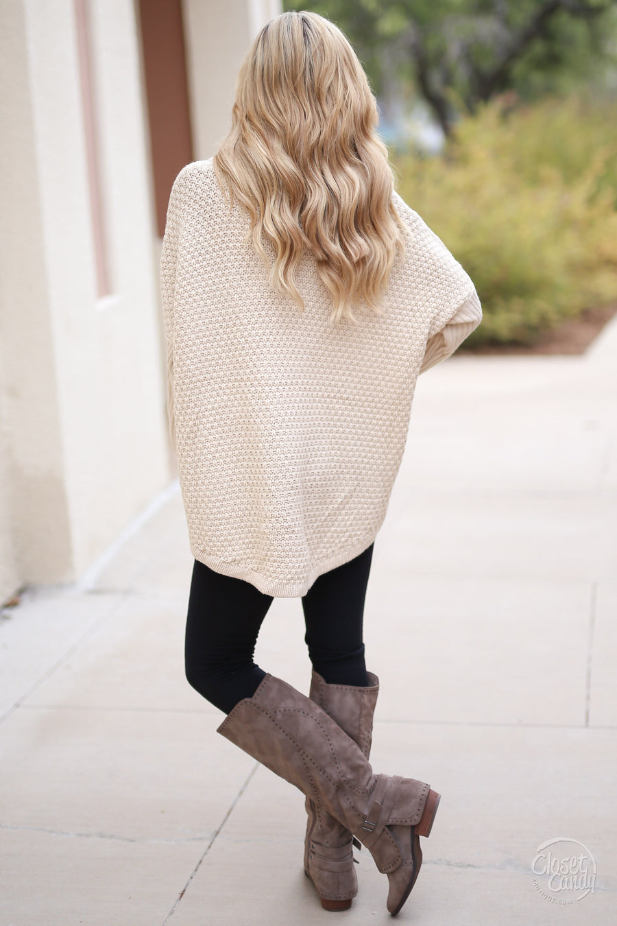 Let's Make S'mores Sweater - cute cream turtleneck sweater, front, Closet Candy Boutique 1