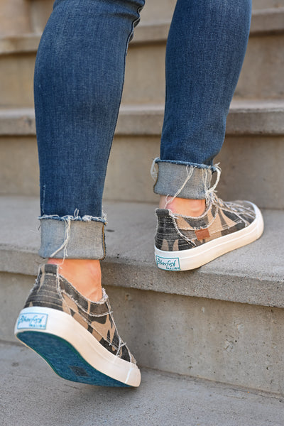 Wherever You Wander Sneakers - Natural Camo womens casual comfortable tennis shoes closet candy step