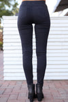 Dangerous Woman Distressed Pants - Black distressed pants, street style, back, Closet Candy Boutique