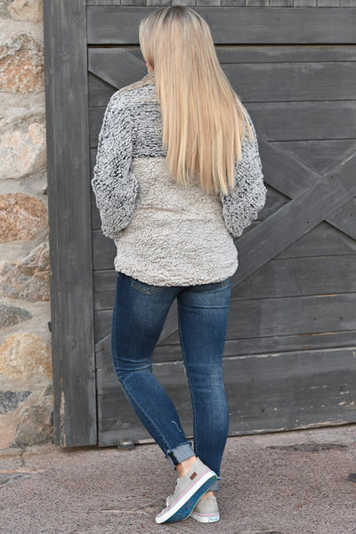 THREAD & SUPPLY Hug It Out Pullover - Indigo & Ivory super soft women's pullover sweater, closet candy boutique 3