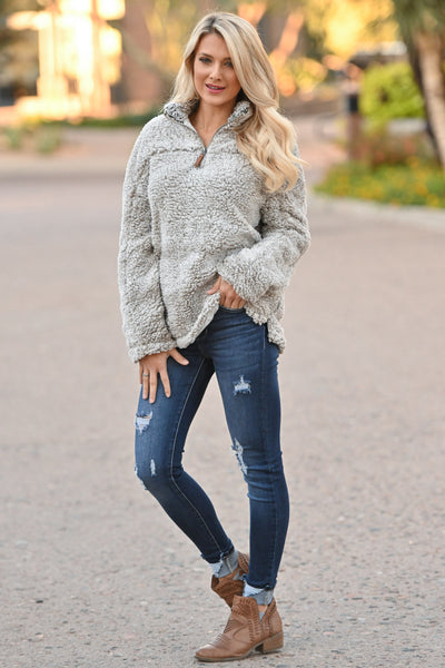 THREAD & SUPPLY Sippin' Cider Pullover - Ivory super soft women's pullover sweater, closet candy boutique 3