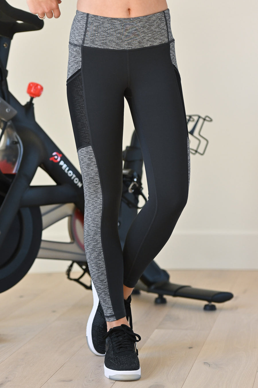 No Days Off Athletic Leggings - Grey & black women's activewear pants, Closet Candy Boutique 1