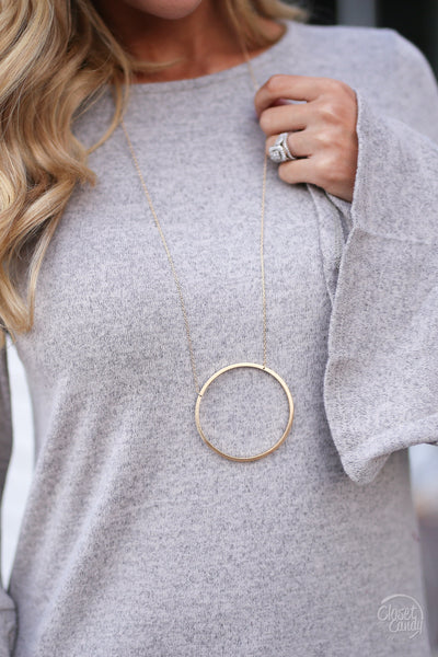 Circle of Love Necklaces - gold necklace, cute jewelry, Closet Candy Boutique