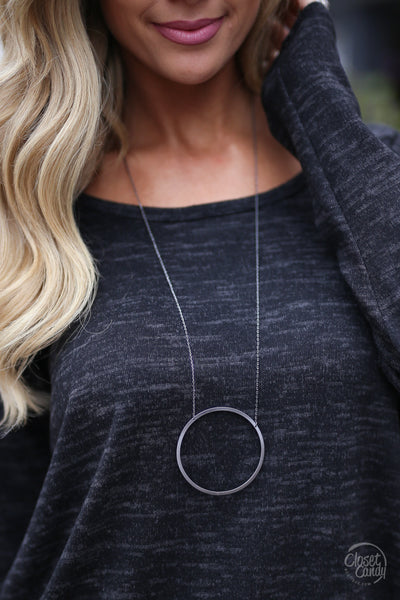 Circle of Love Necklaces - hematite necklace, cute jewelry, Closet Candy Boutique