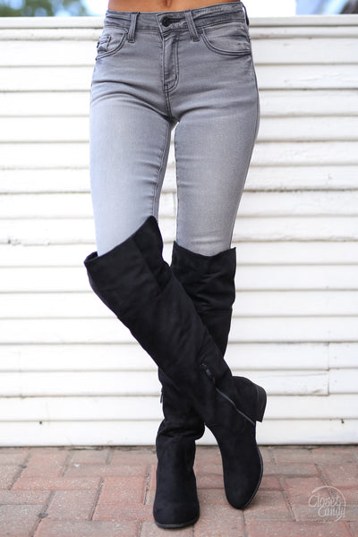 KAN CAN Once In A Lifetime Jeans - Grey skinny jeans, Closet Candy Boutique 1