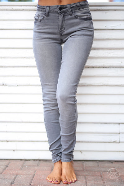 KAN CAN Once In A Lifetime Jeans - Grey skinny jeans, Closet Candy Boutique 5
