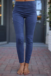 Need For Speed Moto Pants - Navy ribbed moto pants, Closet Candy Boutique 6