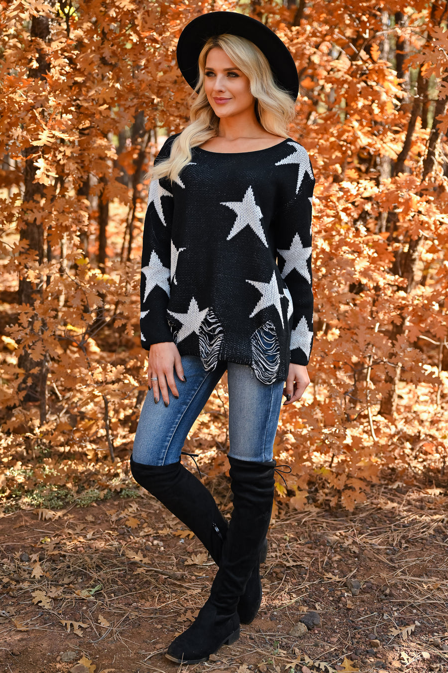 Stars Come Out Sweater - Black