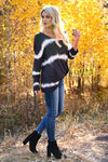Like This Forever Tie Dye Top - Charcoal womens trendy long sleeve v-neck top closet candy side