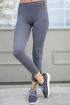 In My Zone Athletic Leggings - grey athletic leggings, cute workout apparel, front, Closet Candy Boutique