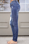 MACHINE Distressed Skinny Jeans - Katie Wash distressed skinny low rise jeans, Closet Candy Boutique 2