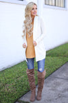 At Your Leisure Cardigan - Ivory knit cardigan, outfit, Closet Candy Boutique 1
