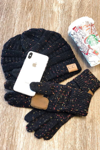 Melange Touch Screen Gloves - color flecked touchscreen gloves, Closet Candy Boutique 3