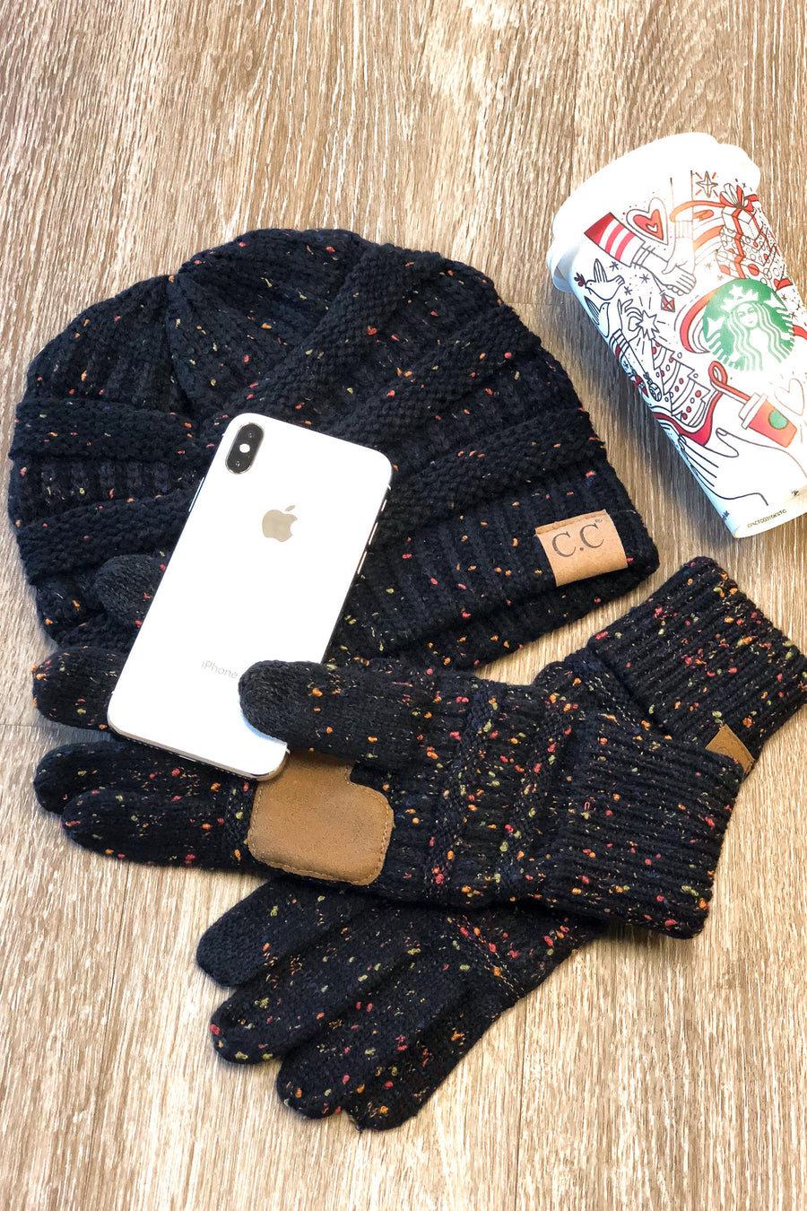 Melange Touch Screen Gloves - color flecked touchscreen gloves, Closet Candy Boutique 1